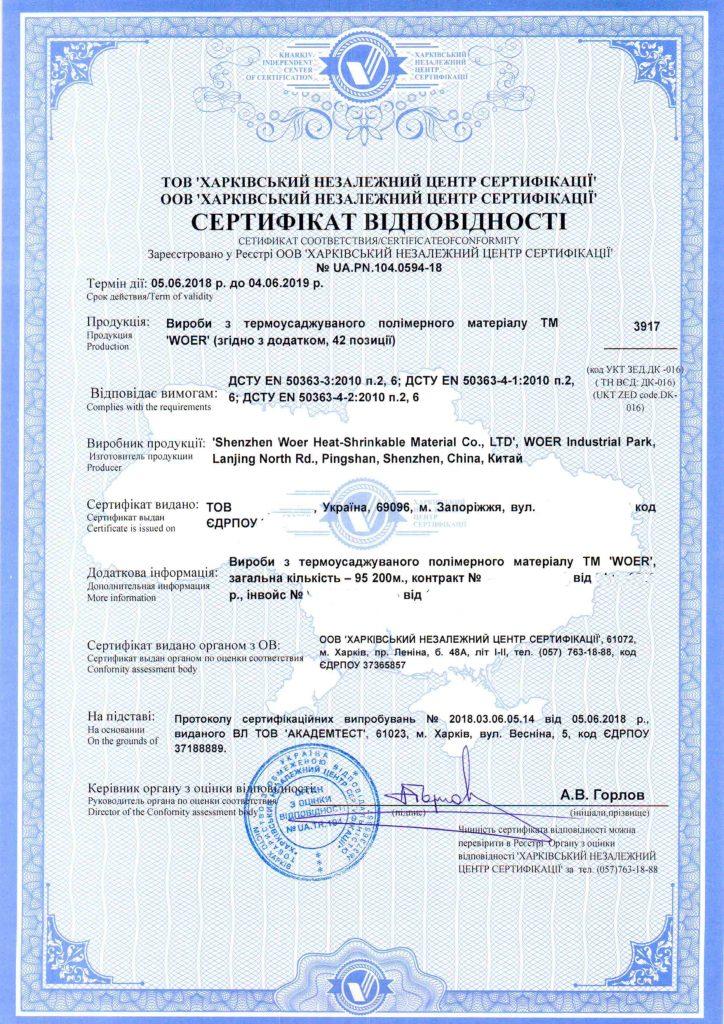 добровольный сертификат соответствия продукции