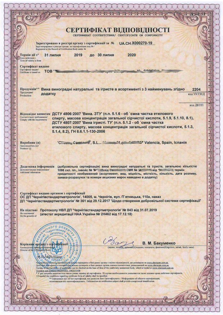 Сертифікація харчової продукції